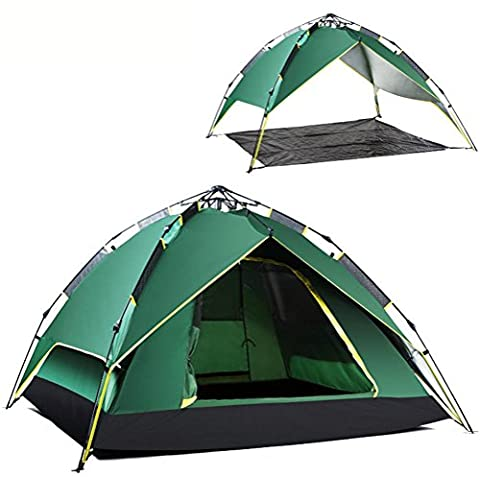 Mountaintop Automatic Pop Up Tent Backpacking Tents With Carrying Bag For 2 Or 3 Person