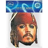 Diseño de piratas del Caribe de Capitán Sparrow de cartón con diseño de máscara de, de acero de alta calidad de brillo de caja de cartón con ojos de agujeros, de goma - tamaño de alrededor de 30 x 20 cm