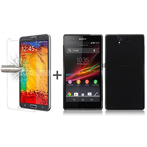 tbocr-pack-black-tpu-silicone-gel-case-tempered-glass-screen-protector-for-sony-xperia-z-l36h-soft-j