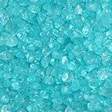 Glas-Steine / Glas-Granulat (4-10 mm), 1 kg, türkis