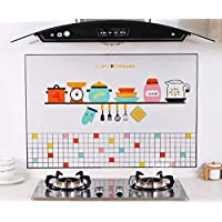 Kitchen self-adhesive oil-proof wall stickers High temperature and smoke-proof waterproof stickers Cartoon oil-proof paper fume stickers-xsq