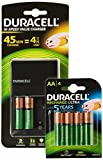Duracell AA and AAA Battery Charger with 2 AA Standard & 4 AA PreCharged Rechargeable Batteries
