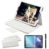 REAL-EAGLE Coque Galaxy Tab S2 9.7 QWERTY Clavier Bluetooth Étui Housse, sans Fil...