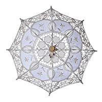 xMxDESiZ Bridal Lace Umbrella Women Parasol Party Photography Props Wedding Decoration