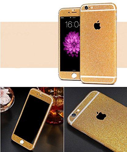 Design Glamoures Sticker für Apple iPhone 5 5S SE 6 6S Skin Glitzerfolie Protector Folie Schutzfolie Hülle Slim Sticker Film in Champagner, Gold, Pink, Grün, Lila (iPhone 5, 5S, SE, Gold) - Iphone 5 Sticker Gold Skin