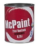 McPaint 2in1 Buntlack Grundierung und Lack in einem für Innen und Außen. PU verstärkt - speziell für Möbel und Kinderspielzeug seidenmatt Farbton: RAL 7016 Anthrazit  0,75 Liter - Andere Farben verfügbar