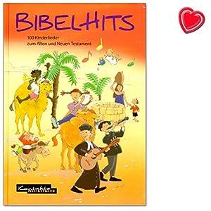 BibelHits – 100 canzoni per bambini per anziani e nuovi testamenti – Target: asilo, scuola elementare, comunità, servizio di culla, famiglia – canzone con clip a forma di cuore colorato.