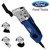 Ford 300 Watts Multi Tool with Quick Lock System, Corded Electric Variable Speed Oscillating Multi Tool with Accessories Set, Tool-less Accessory Change
