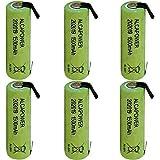 Set di 6 Batterie Ricaricabili Accumulatore Ni - MH AA 1,2V 1500mAh - T. a Saldare (Confezione da 6 Batterie)