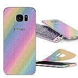 Urcover Glitzer-Folie zum Aufkleben | Samsung Galaxy S7 Edge | Folie in Rainbow | Zubehör Glitzerhülle Handyskin Diamond Funkeln Schutzfolie Handy-schutz Luxus Bling Glamourös