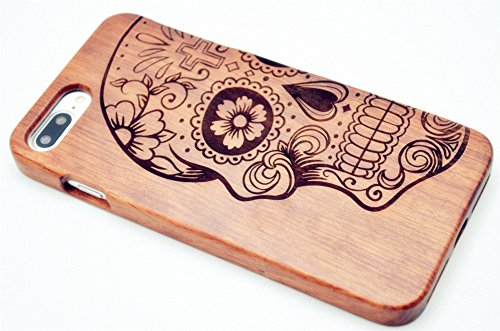 Roseflower® iphone 7 4.7'' legno custodia - cranio di palissandro - qualit à premium cover in bambù/legno naturale