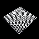 Dabixx Juego de separador de acuario para acuario, con ventosa, plástico, Blanco, 30 x 30 cm