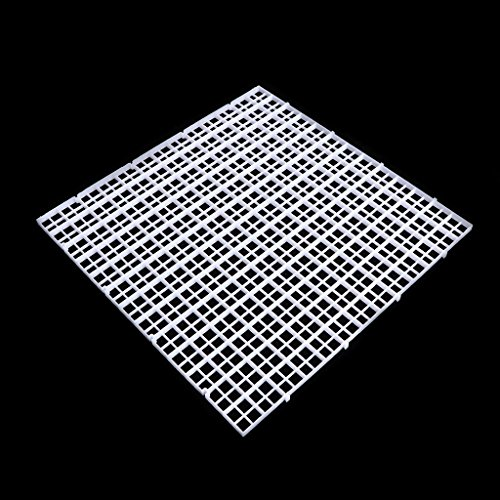 Aquarium Divider Divider Filter Patition Board Net Divider Halter Weiß 30x30 cm Dabixx -