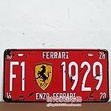 Cartel de chapa Placa metal tin sign retro nostálgico metalicas luxury car matrícula del coche Velocidad