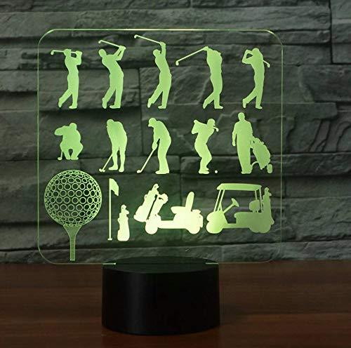 7 Farbwechsel 3D Tischlampe Spielen Golf Mann Modell Acryl Led 3D Golfer Nachtlichter Usb Baby Schlaf Beleuchtung Schlafzimmer Dekor