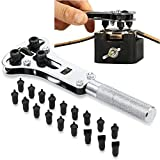 Gankarii - Watch Back Remover Tool, Wrench Screw Remover Watch Back Case Battery Cover Opener Repair Tool Set Kit 37mm Max