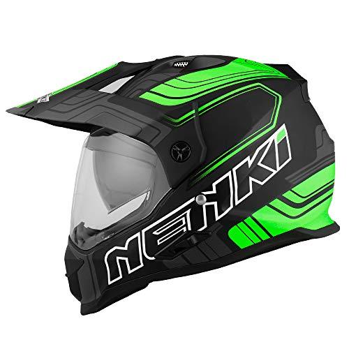 NENKI Casco Enduro Moto NK NK-313 ECE Aprobado Large