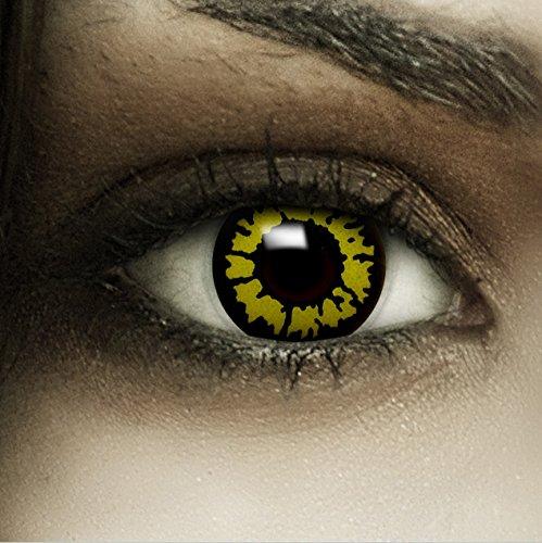 Wolf Tutorial Kostüm (Farbige gelbe Kontaktlinsen