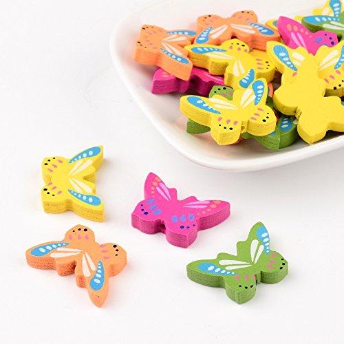 pandahall-lot-de-20pcs-perles-en-bois-teintes-sans-plomb-perle-papillon-couleur-melangee-17x25x45mm-