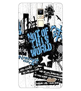 ColourCraft Typography Design Back Case Cover for OPPO R7