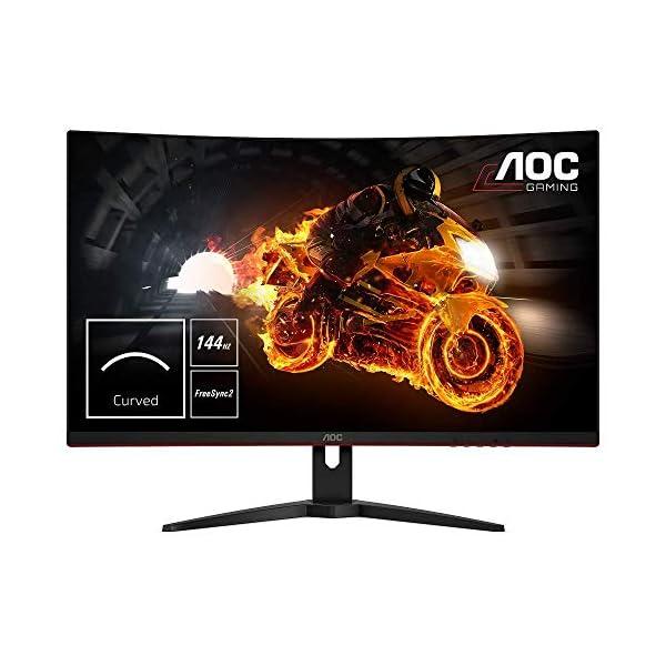 AOC-C32G1-32-Widescreen-VA-LED-BlackRed-Curved-Monitor-1920x10801msVGA2xHDMIDP