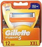 Gillette Männer Fusion5 Rasierklingen, 1er Pack (1 x 12 Stück) -