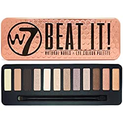W7 Beat It! Naturel Nudes Palette de 12 ombres à paupières, 15,6 g