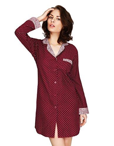 Mio Lounge Going Dotty Purple Cotton Nightshirt MLGD1502NS Medium (Dot Nightshirt Polka)