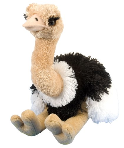 Wild Republic Plüsch Vogel Strauß, Cuddlekins Kuscheltier, Plüschtier, 30cm