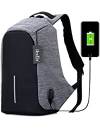 College Backpack, Business Laptop Backpack, Anti Theft Water Resistant Computer USB Charging Port, Lightweight...