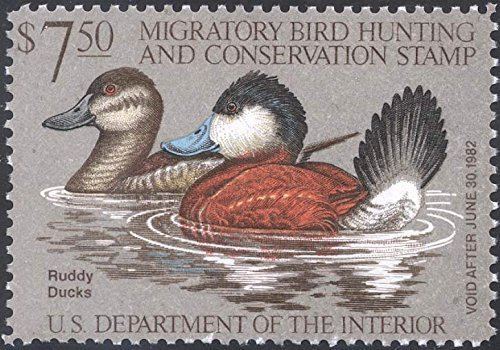 Scott RW48 $7.50 Federal Duck Stamp Mint Very Fine. Never Been Hinged. by USPS -
