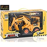 MousePotato Wireless Remote Control Rechargeable Truck Excavator For Kids
