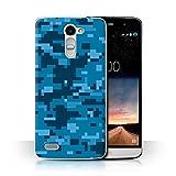 Stuff4 Hülle / Case für LG Ray/X190 / Blau Digital Urban