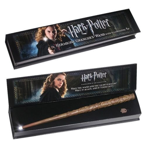 Noble Collection - Harry Potter: Bacchetta Magica Punta Luminosa di Hermione Granger