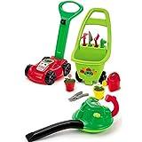 Unbekannt Gartengeräte für Kinder Rasenmäher, Laubbläser, Gerätewagen • Laubbläser Rasenmäher Garten Spielzeug Harke Sandspielzeug