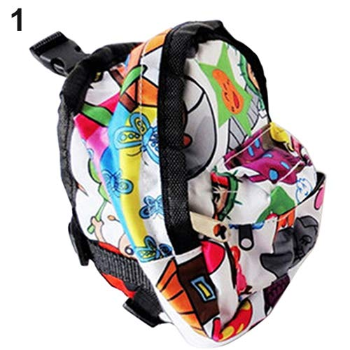 strimusimak Cartoon Pattern Pet Bag Backpack Travel Carrier for Dog Puppy Cat with Leash - White S (Carrier White Dog)