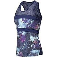 Naffta Camiseta tirantes para mujer, color orquídea/azul marino, talla L