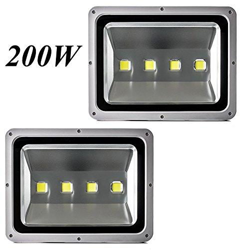 Leetop 2X 200W Foco LED Proyector de Luz Lámpara IP65 Impermeable Iluminación...
