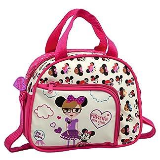 Disney Minnie Fan Neceser Bandolera, Color Blanco, 4.37 Litros