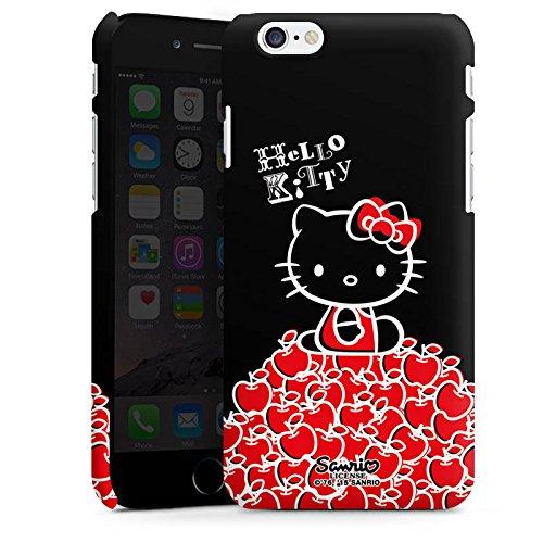 Apple iPhone X Silikon Hülle Case Schutzhülle Hello Kitty Merchandise Fanartikel Black Premium Case matt