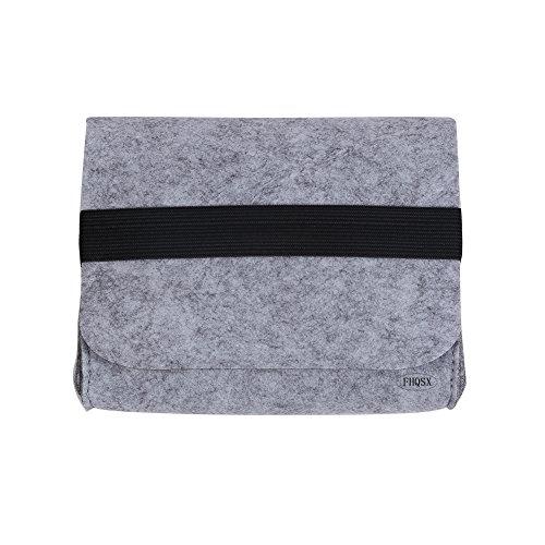 FHQSX Filz Mini Universaltasche Aufbewahrungstasche Kleine Elektronik-Zubehör Tasche für Accessoires Kabel Hellgrau