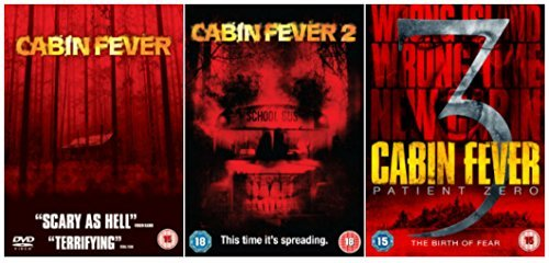 Cabin Fever Trilogy 1-3 Complete DVD Movie Collection: Cabin Fever / Cabin Fever 2 / Cabin Fever 3 - Patient Zero by Sean Astin