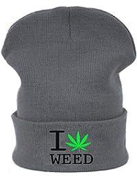 Hombres de las mujeres de gran tamaño Baggy Beanie sombrero sombreros Weed Ganja 420hoja invierno cálido lana esquí snowboard Cap