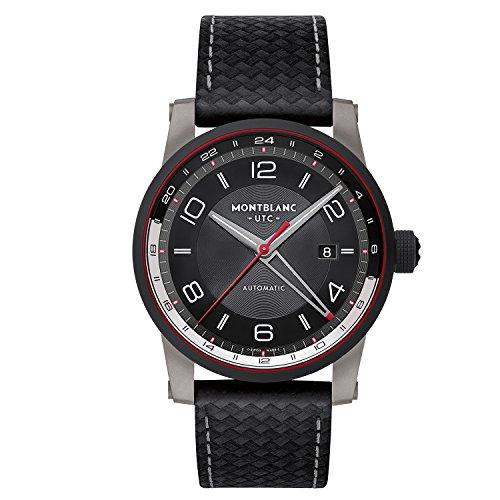 Montblanc Timewalker Urban Speed AUTOMATICO 41mm und Stahl/schwarz Leder–UTC