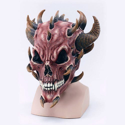 Scary Red Devil Skull Mask