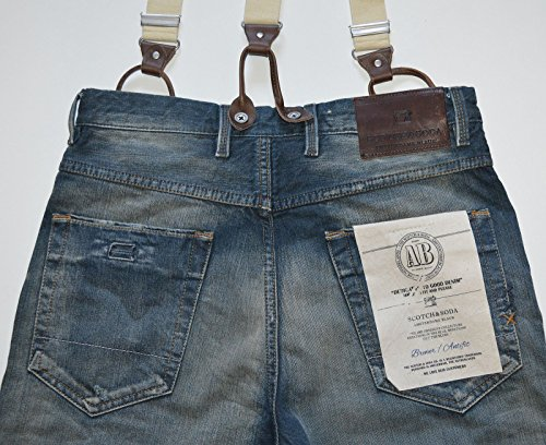 Scotch & Soda Herren Jeans Normaler Bund 13060785077 Brewer - Sanded Green Blau