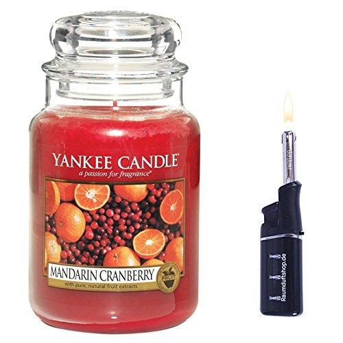 YANKEE CANDLE Housewarmer Mandarin Cranberry 625g inklusive Stabfeuerzeug -