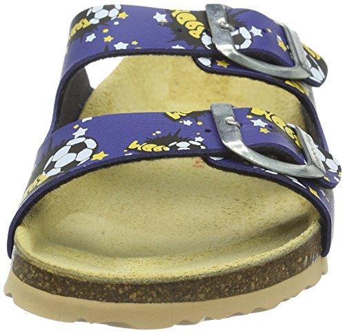 Superfit Jungen Fussbettpantoffel Pantoffeln Blau (Bluet Kombi 85)