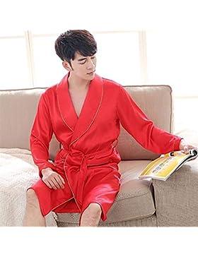 SUxian - Albornoz de Pijamas del camisón de los Vestidos del Novio de los Hombres Festivos