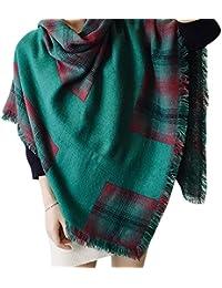 LAEMILIA Carreaux Écharpe Femme Hiver Automne Châle Tartan Douse Chaude  Foulard Vintage Grande Foulard Stole 22f08e54eba